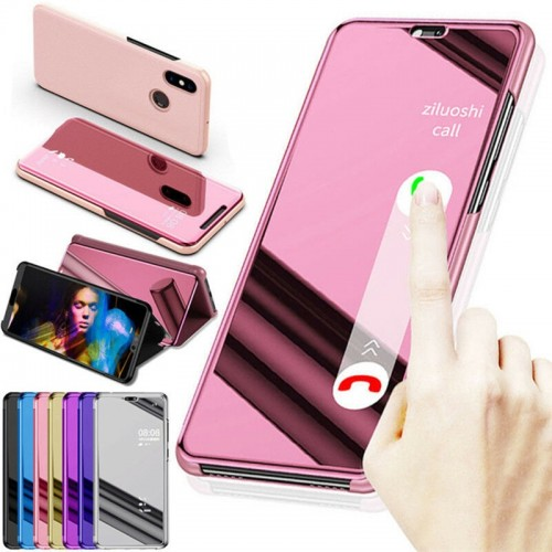 Samsung Iphones Smart Mirror Case Clear View Leather Flip Stand Cover High Quality