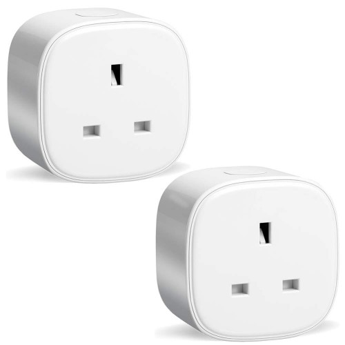 Pack of 2 Smart WiFi Plugs Energy Monitor IFTTT Supported App Remote Control Socket Plug