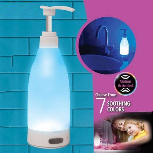 Brite LED Colorful Light Liquid Soap Dispenser Glowing Soap Bottle Hand Sanitizer Sensor Night Light Portable