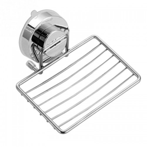 Sponge Suction Cup Soap Holder Bathroom Wall Drain Rack Stainless Steel