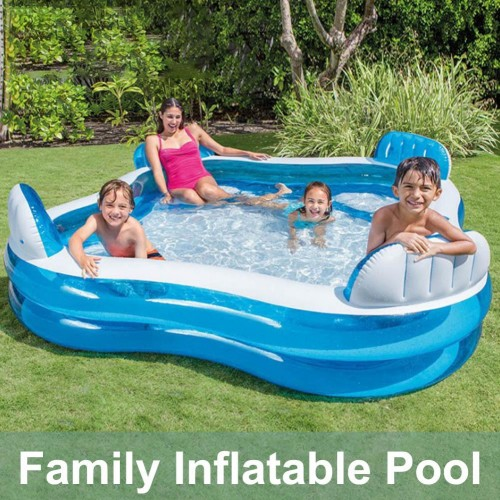 Summer Inflatable Family Pool Adult Play Bathtub Outdoor Indoor Water Swimming Pool With Seats