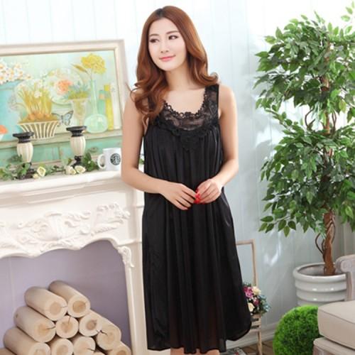 Summer Long Silk Nightgowns Lingerie Sleepwear Robes