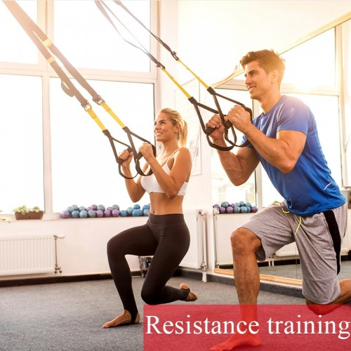 Suspension Resistance Bands Set Home Gym Training Bands For Fitness Kit Exercise Equipment