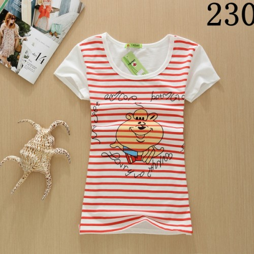 Girls Summer Fashion Cotton Panda Print Short Sleeve O-Neck T-shirt