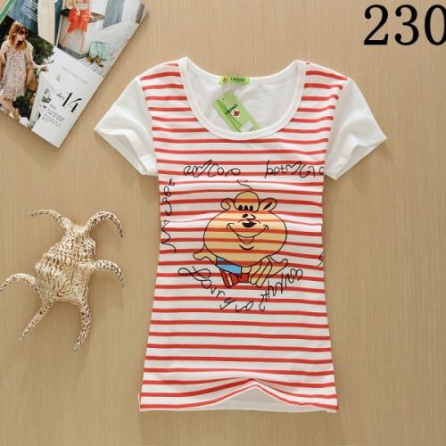 Girls Summer Fashion Cotton Panda Print Short Sleeve O-Neck T-shirt