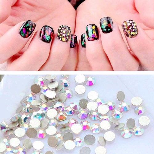 1440PCS Pack Crystal Clear Rhinestones Nails