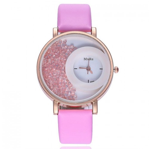 Women Fashion Leather Band Analog Quartz Round Wrist Watch High Quality