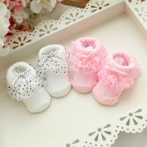 Toddlers Infants Babys Cotton Ankle Socks Princess Bowknots Socks
