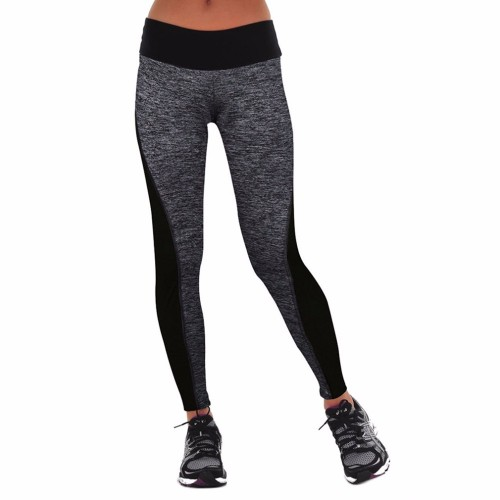 Elastic Women Pants Mid Waist For Running Yoga Sports Gym Tights