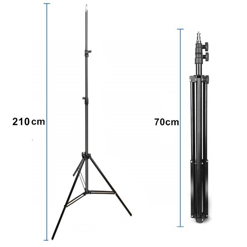 7 Feet Tripod Photography Light Camera Stand Adjustable Height With 1/4 Screw Head For Ring Light