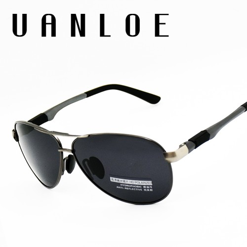 Classic Polarized Sunglasses Fashion Brand Designer High Quality Vintage Twin Beam Glass Frame