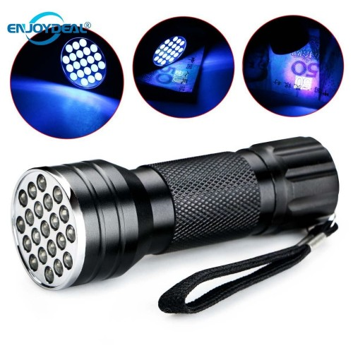 New Portable UV Ultra Violet 21 LED 395nm Flashlight Currency Check