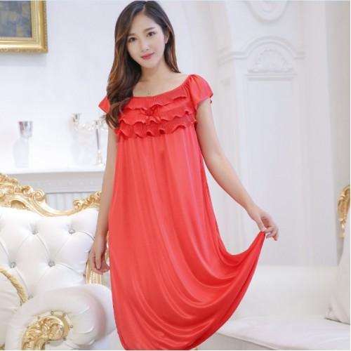 Rayon Night Dress Roupa Bolsa Feminina Sleepwear Robe