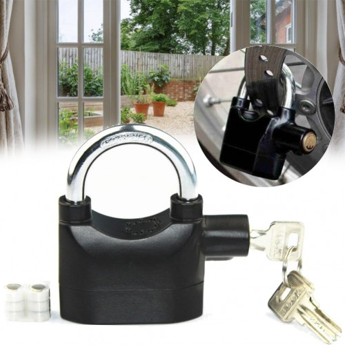 Door Lock Waterproof Bicycle Motorcycle Disc Brake Lock 110 Decibel Anti Theft Alarm Lock Bike Padlock