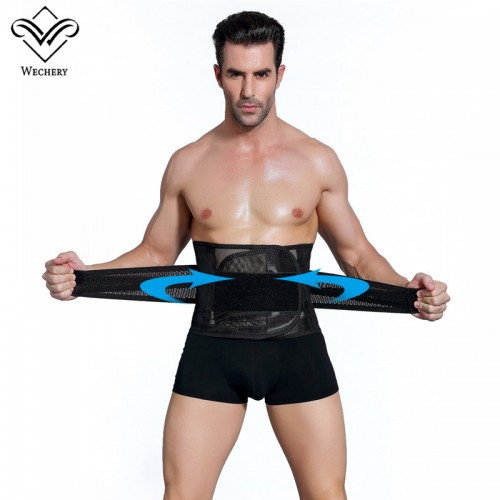 Wechery Slimming Belt Belly Men Body Shaper Corset Abdomen Tummy Shaperwear Waist Trainer Cincher Slim Girdle