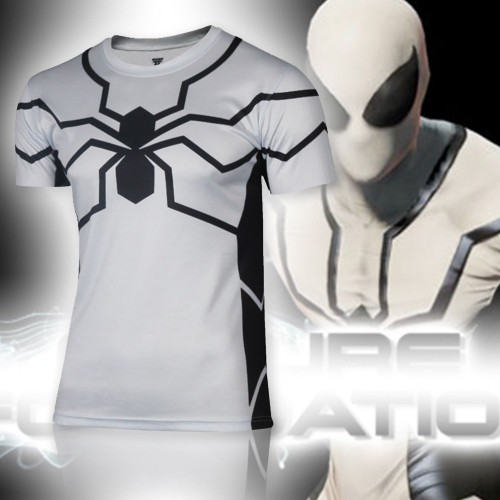 White Spiderman Miracle T-shirt