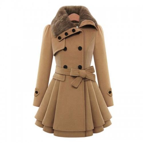 Winter Coat Women Wool Blends Coats Female Jacket Winter Woman Coat Warm Windbreaker