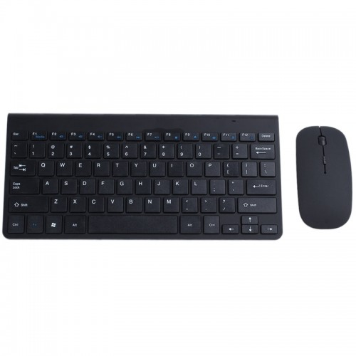 2.4G Wireless keyboard And Mouse Combo Suit Slim Mini keyboard Black