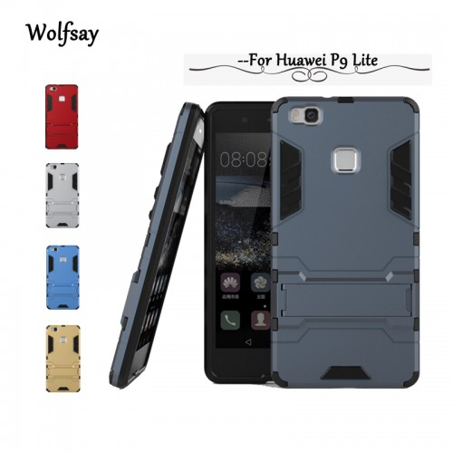 Slim Robot Armor Stand Case Cover for Huawei and Oppo