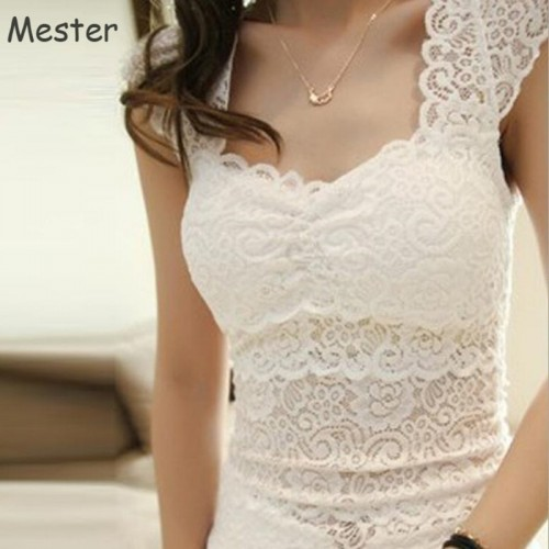 Women Elegant Floral Lace Tank Top Camisole Fashion Summer Sleeveless Vest