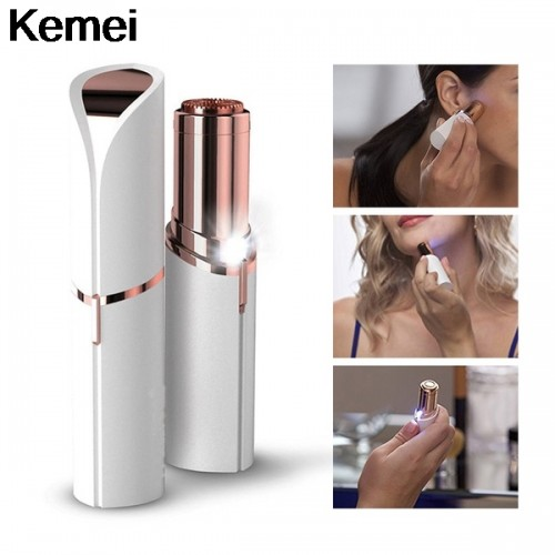 Women Epilator Smooth Hair Remover Razor Body Face Electric Hair Removal Painless Lipstick Shaving Tool