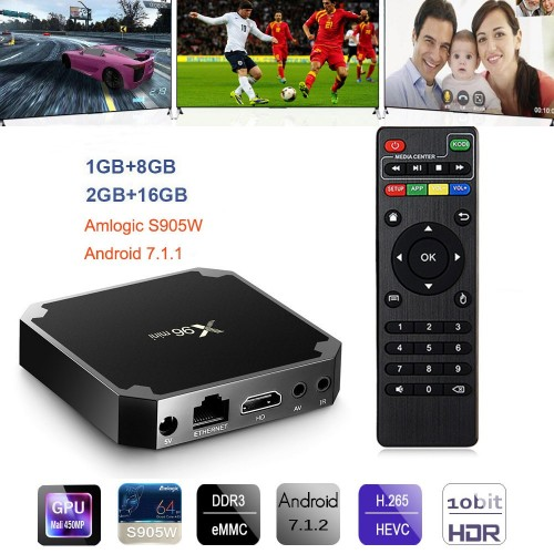 X96 Mini Android TV BOX Android Smart TVBox 2GB 16GB Amlogic S905W Quad Core 2.4GHz WiFi Set Top Box