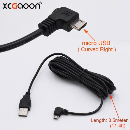 3.5 Meter Charging 90 Degree Curved Mini USB Cable For Smart Phone