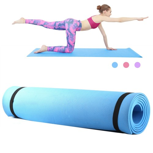 68 x 24 Inches Yoga Mat Fitness Pad 6mm Thick EVA Foam Non Slip Exercise Fitness Mat