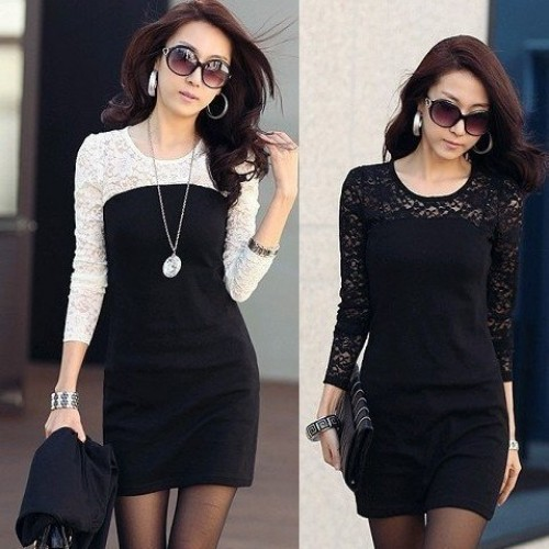 Women Cotton Lace Long Sleeve Maxi