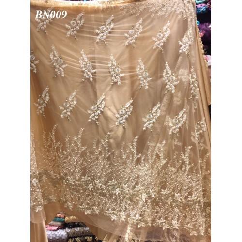Golden Net embroidered shirt Piece