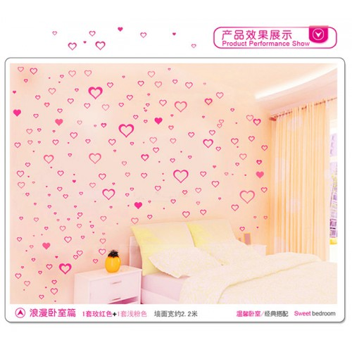 186 Love Floral Heart Wall Stickers For Home Decor Availble in 12 Colors