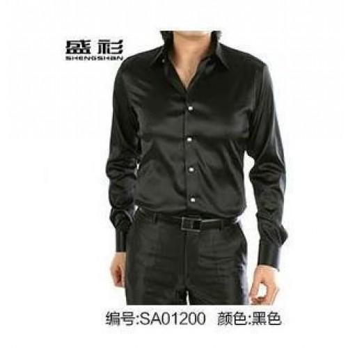 Long Sleeve Casual Silk Men Shirt