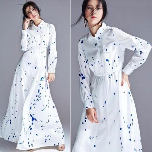 Women Summer Bohemain Long Maxi Floral Dress