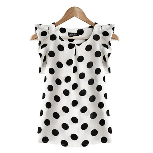 Polka Dot Summer Chiffon Top