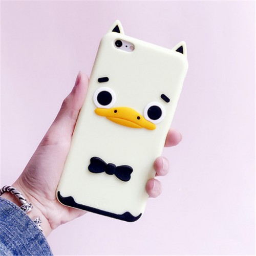Duck 3D Soft Silicone Phone Case Cover for iPhone