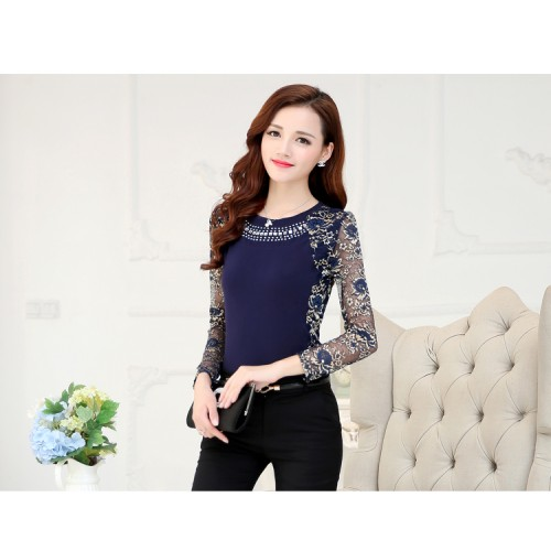 Winter Women's Lace Blouse Shirt