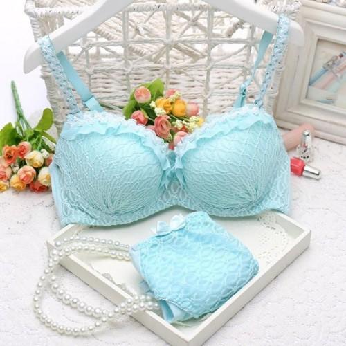 Beautiful Lace Push Up Bra Set