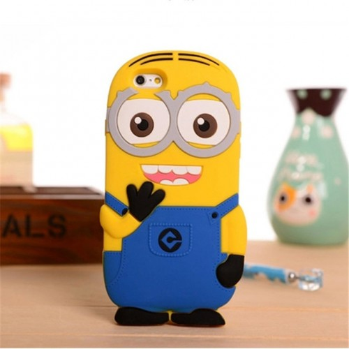 Minion 3D Soft Silicone Phone Case Cover for iPhone