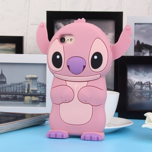 Vampire pink 3D Soft Silicone Phone Case Cover for iPhone