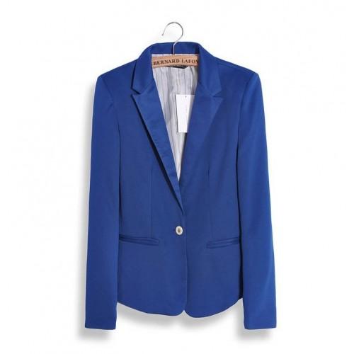 Women Blazer Jacket In Blue