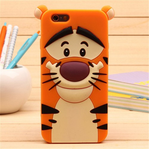 Tigger 3D Soft Silicone Phone Case Cover for iPhone