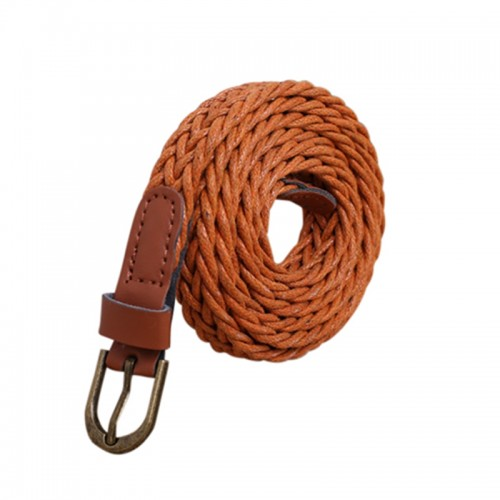 Light Brown Womens New Style Hemp Rope Braid Female Belt For Dress