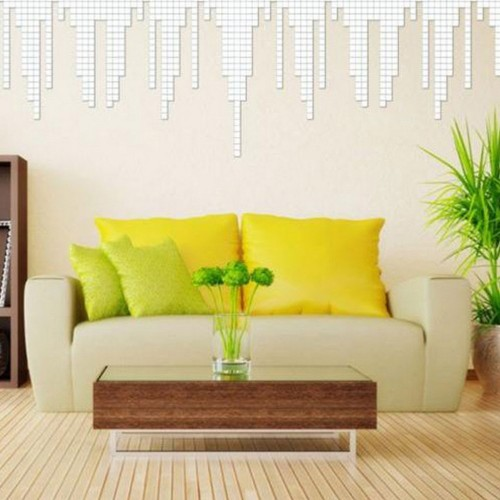 100 Pcs/set 2*2CM Acrylic Mirrored Decorative Sticker Wall Art Decoration