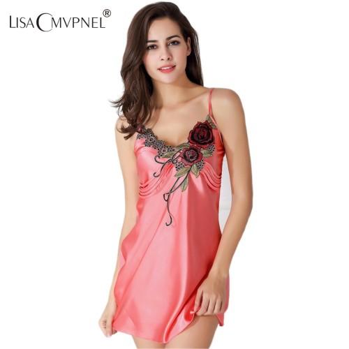 Nightdress V-Neck Sleeveless Nightwear