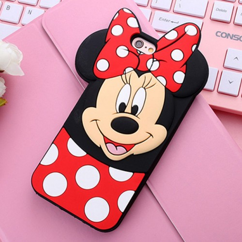 Minnie Mouse 3D Soft Silicone Phone Case Cover for iPhone