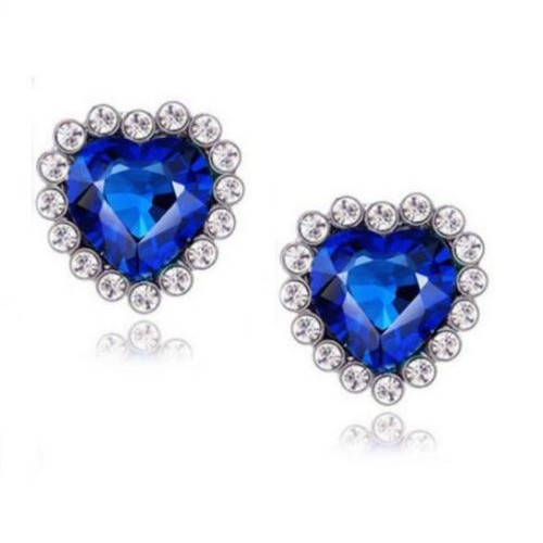 Titanic Heart Of Ocean Bling Rhinestone Jewelry Set