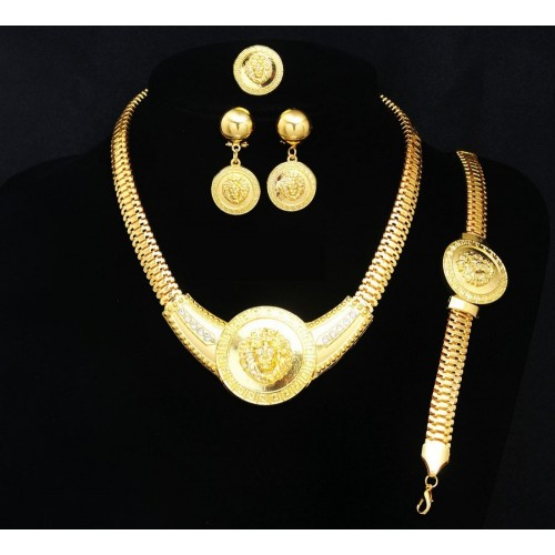 Yellow Gold Plated Dubai African Jewelry Set