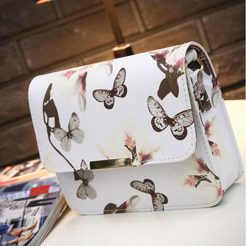 Beautiful Butter Fly Leather Shoulder Bag