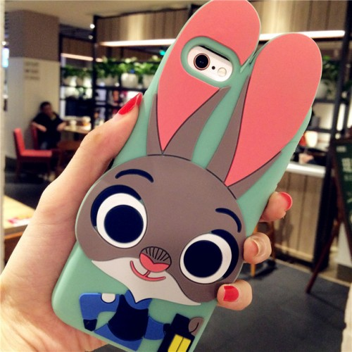 Judy Rabbit 3D Soft Silicone Phone Case Cover for iPhone