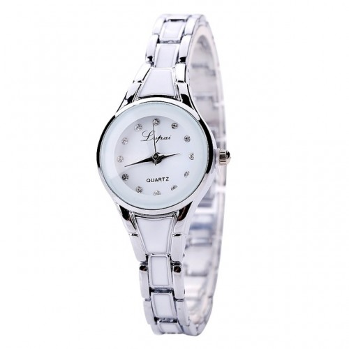 Luxury Crystal Bracelet Gemstone Wristwatch